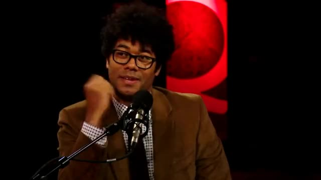 """Watch Richard Ayoade & Jesse Eisenberg on """"The Double"""" GIF on Gfycat. Discover more cbc, celebrity, celebs, doppelganger, interview, qtv, richard ayoade, tiff GIFs on Gfycat"""
