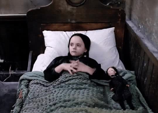 Watch this good night GIF by sannahparker on Gfycat. Discover more addams family, bedtime, dead, good night, rest, sleep, sleeping, wednesday addams GIFs on Gfycat