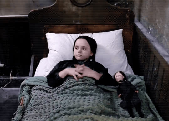 addams family, bedtime, dead, good night, rest, sleep, sleeping, wednesday addams, Wednesday Addams Sleeping GIFs