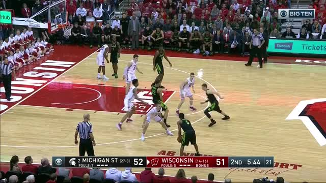 Watch and share Jaren Jackson Jr. Vs. Wisconsin GIFs by umhoops on Gfycat