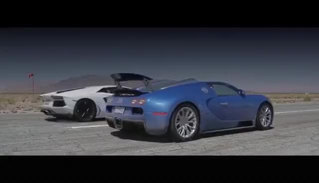 Watch and share Bugatti Veyron Vs Lamborghini Aventador Vs Lexus LFA Vs McLaren MP4-12C - Head 2 Head Episode 8 GIFs on Gfycat