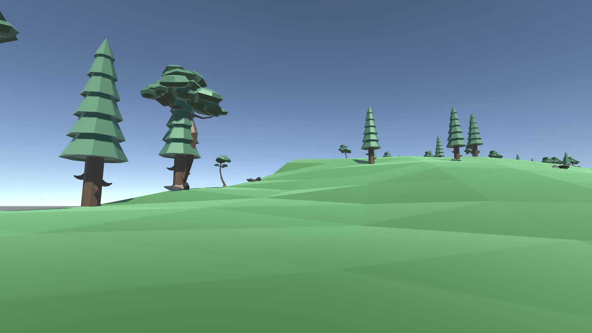 proceduralgeneration, terrain, Low poly terrain Unity3D GIFs