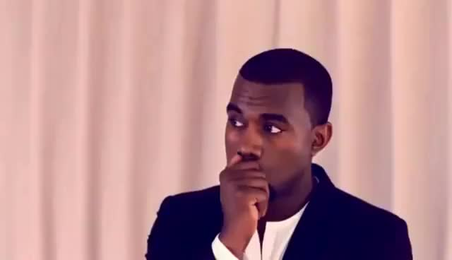 Watch and share Kanye West Blank Stare GIFs on Gfycat