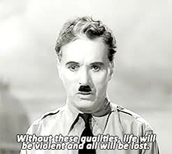 Watch view GIF on Gfycat. Discover more charlie chaplin, newgifs, the great dictator GIFs on Gfycat