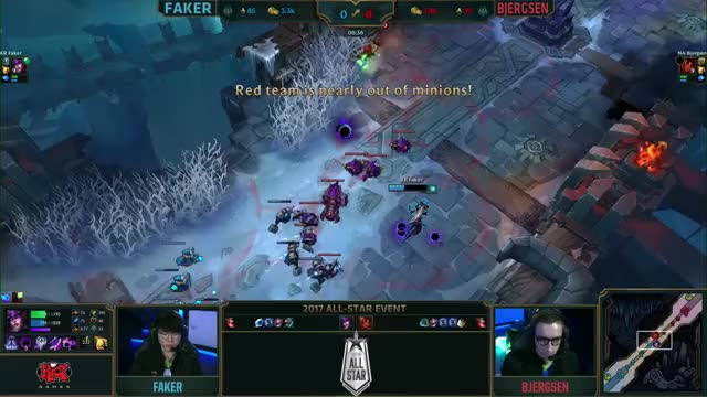 Watch and share Faker Vs. Bjergsen Quarterfinals   1v1 Tournament   2017 All-Star Event GIFs on Gfycat