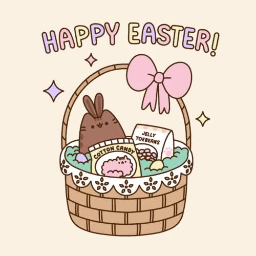 Watch and share Pusheen GIFs and Easter GIFs by Reactions on Gfycat