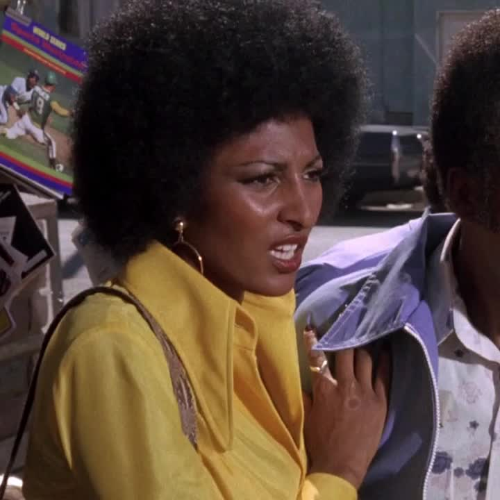 blaxploitation, foxy brown, gasp, hand before mouth, hand in front of mouth, oh, pam grier, reaction, reactions, response, shocked, Foxy Brown - Pam grier shock hand before mouth GIFs