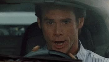Watch jim carey bruce almighty sports car splitting traffic GIF on Gfycat. Discover more related GIFs on Gfycat