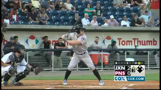 Watch Jackson's Tyler O'Neill swats second homer GIF by Razzball (@razzball) on Gfycat. Discover more Jackson Generals, MiLB, Minor League Baseball, Minor Leagues, Minors, Pensacola Blue Wahoos, Tyler O'Neill, baseball GIFs on Gfycat