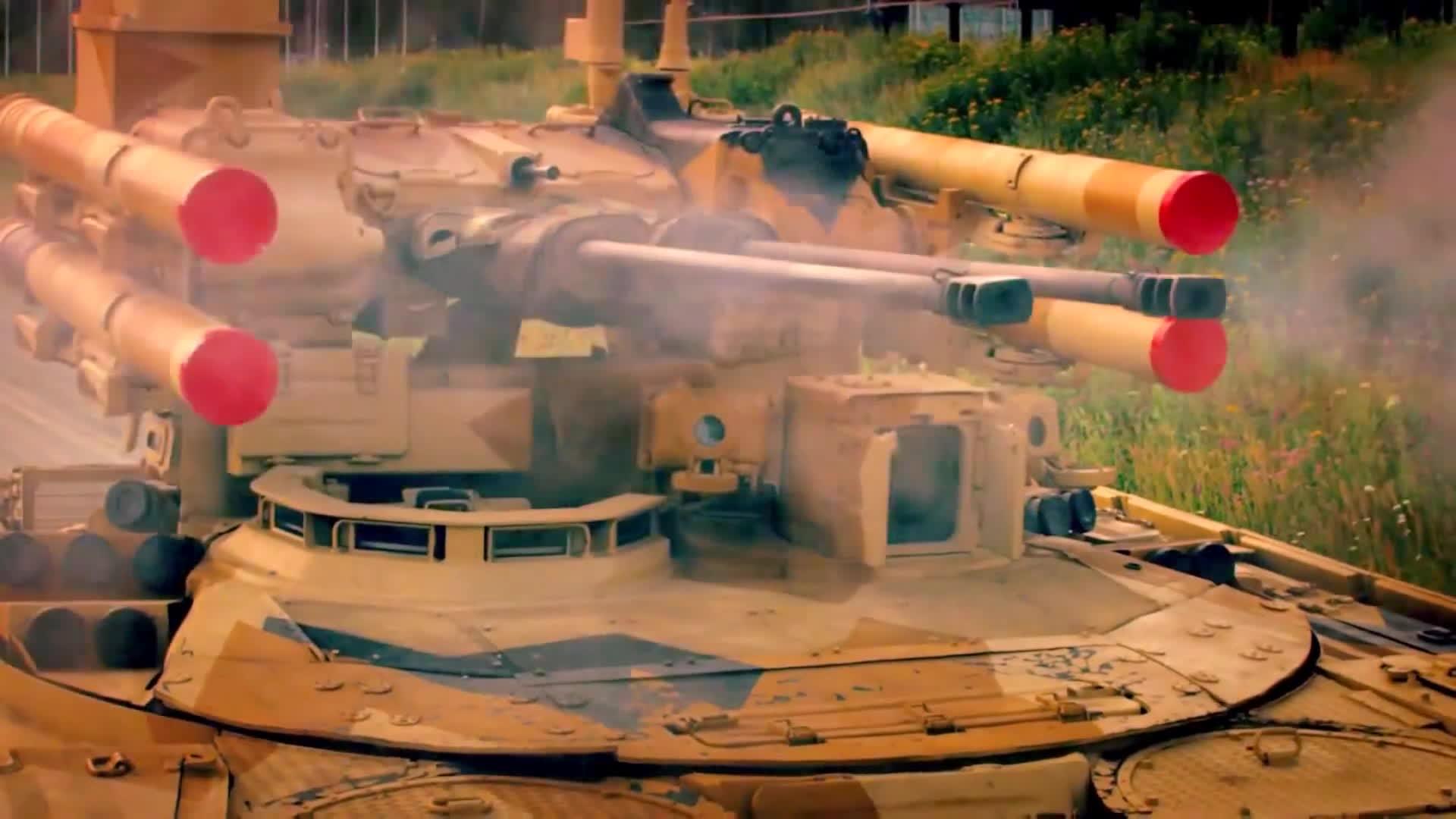 military, UralVagon Zavod - BMPT Terminator Tank Support Fighting Vehicle RAE 2013 [1080p] GIFs