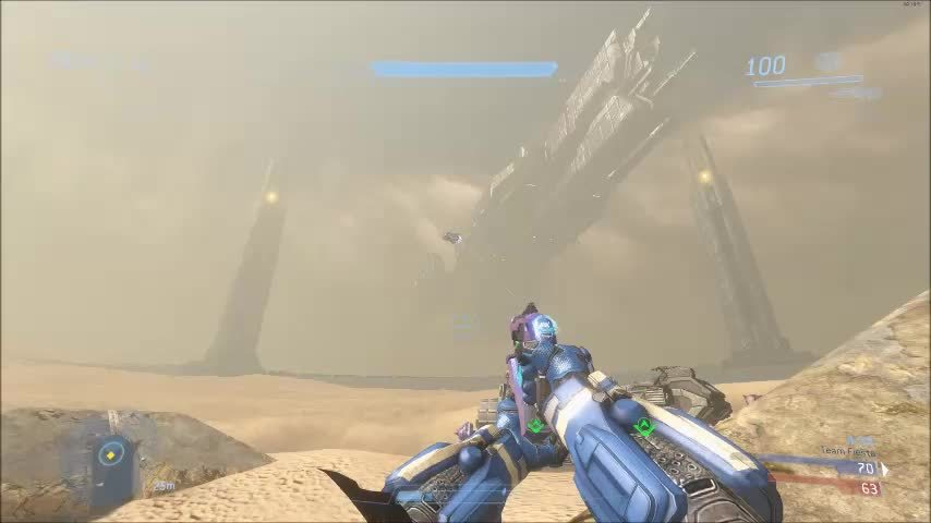 HaloOnline, haloonline, Teammate asked us to take care of the banshee. Now that's teamwork! (reddit) GIFs