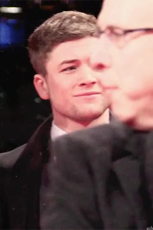 Watch and share Taron Egerton GIFs on Gfycat