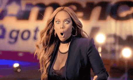 banks, burn, god, my, no, oh, omg, ooh, surprise, surprised, tyra, way, Tyra Banks - OMG  GIFs