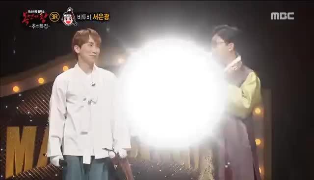 [King of masked singer] 복면가왕 'Tonight i'm afraid of darkness, Seokbong' Identity 20160911 GIFs