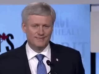 Watch and share Stephen Harper GIFs on Gfycat