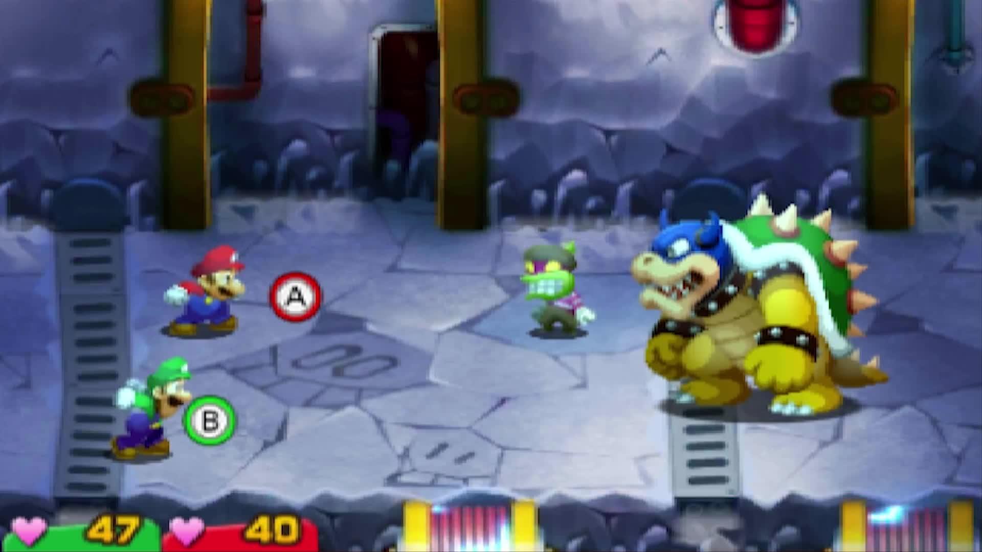 Mario Luigi Superstar Saga Bowser S Minions All Popple Boss Battles 3ds