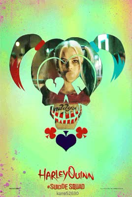 Watch and share Suicide Squad Harley Quinn GIF Poster GIFs on Gfycat