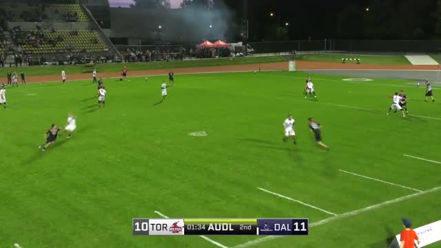 Watch and share Isaiah Masek-Kelly Perfect Huck To Cam Harris GIFs by American Ultimate Disc League on Gfycat