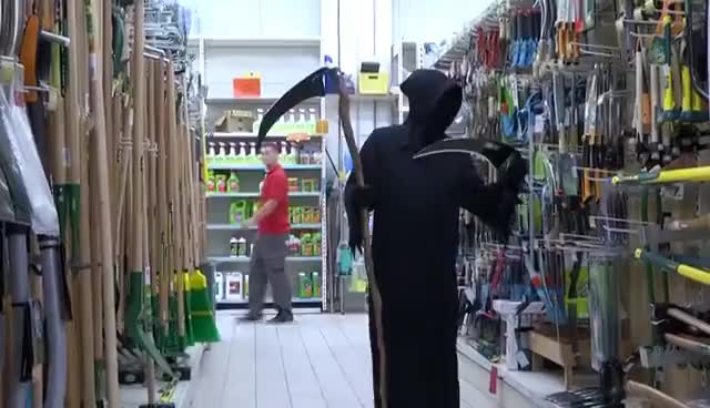 Watch and share GRIM REAPER PRANK (REMI GAILLARD) GIFs on Gfycat