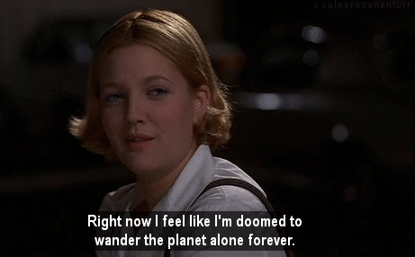 1998, 90s, alone, alone forever, comedy, confused, doomed, drew barrymore, film, forever alone, frank coraci, julia sullivan, lonely, mid life crisis, movie, movie quote, movie quotes, movies, planet, quote, quotes, rom com, romance, subtitles, the wedding singer, valentines day, you hate me GIFs
