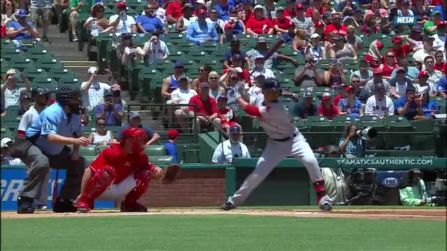 Watch and share Betts Fouls Ball Off Face GIFs on Gfycat