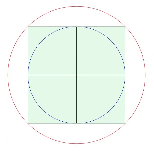 Watch and share Squaring The Circle GIFs and Geometry GIFs by Folding Circles on Gfycat