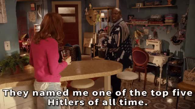 Watch They named me one of the top five Hitlers of all time. Real Hitler wasn't even on the list! [Unbreakable Kimmy Schmidt 2015 NetFlix Titus Tituss Burgess Flamboyant gay black man fabulous literally the worst dictator dictatorship mod moderator abuse unbelieveable insult diss] (reddit) GIF on Gfycat. Discover more gfycatdepot GIFs on Gfycat