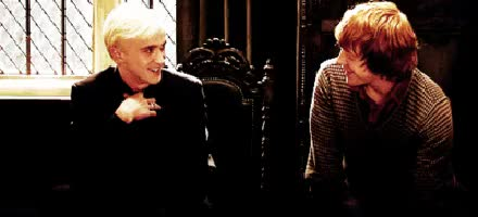 Watch Tom Felton + Rupert Grint GIF on Gfycat. Discover more Draco Malfoy, Harry Potter, Tom Felton, hp, rom, ron weasley, rupert grint, tupert GIFs on Gfycat