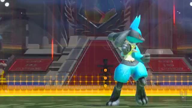 Lucario burst attack transformation
