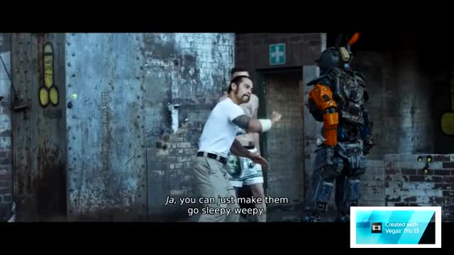 Chappie: Daddy want to go to sleep? Chappie, Die Antwoord (Musical Artist), robot, funny, AI, Artificial Intelligence (Industry), knife, Sleep, Daddy, want, go, Daddy want to go to sleep, movie, Ninja, Shurikenjutsu (Martial Art), yo-landi, America GIF