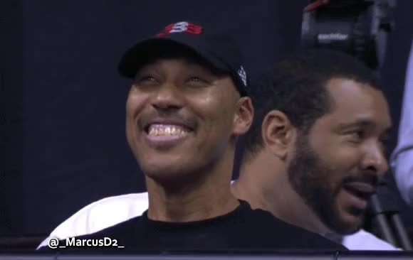 Watch and share LaVar Ball Bobble Head Smiling Reaction GIFs by MarcusD on Gfycat