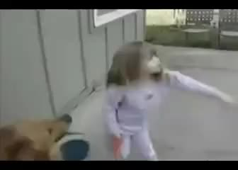 Watch Little girl is DEMOLISHED by dog GIF on Gfycat. Discover more related GIFs on Gfycat
