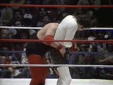 ProWrestlingGIFs, SquaredCircle, Andy Kaufman gets dropped by a brutal suplex by Jerry the King (reddit) GIFs