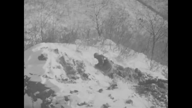 Watch and share A U.S. Marine Use Another Marine's Arm/shoulder To Mount/fire An M1919 Machine Gun At Snipers In Battle Of Chosin Reservoir (December 1950) GIFs by paulioetc on Gfycat