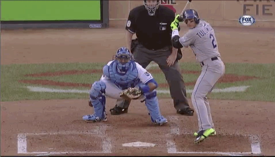 texasrangers, Darvish's curveball against Tulo in the ASG. He doesn't even flinch. (reddit) GIFs