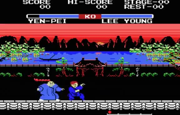 Watch MSX Game: Yie Ar Kung-Fu 2:  The Emperor Yie-Gah (1985 Konami) GIF on Gfycat. Discover more related GIFs on Gfycat