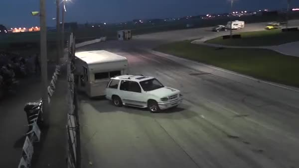 Watch and share BAER FIELD SPEEDWAY - BOAT & CAMPER TRAILER RACE (reddit) GIFs by navysonicshell on Gfycat