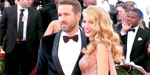 blake lively, by maria, celebs, events, gifs, gossip girl, rreynoldsedit, ryan reynolds, My wife knows how to work a red carpet, I'll say that. Yeah, GIFs
