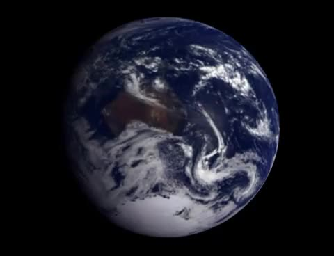 Watch and share Rotating Earth From Space (Galileo Spacecraft 1990) HD GIFs on Gfycat