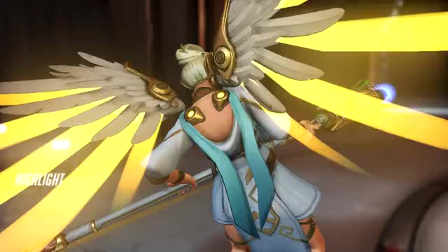 Watch and share Overwatch GIFs and Mercy GIFs by hnz on Gfycat