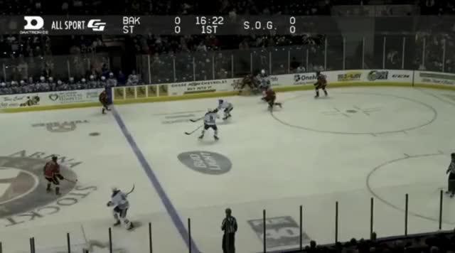 Watch and share Reinhart Rushes Puck In Bakersfield GIFs by cultofhockey on Gfycat