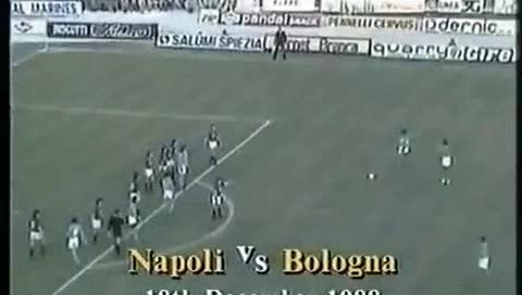 Watch and share Diego Maradona. Napoli - Bologna. 18.12.1988 GIFs by fatalali on Gfycat