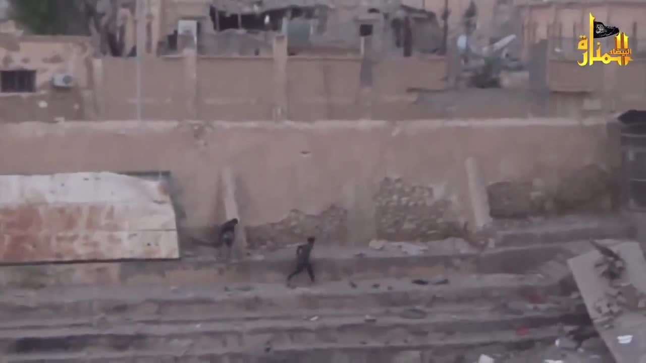 CombatFootage, combatfootage, Syrian rebels narrowly avoid death GIFs