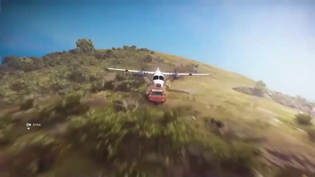 Watch Plane from a Car from a Hillside - Just Cause 3 Stunts GIF by ThePyrotechnician (@thepyrotechnician) on Gfycat. Discover more GamePhysics, gamephysics GIFs on Gfycat