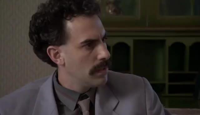 borat, hmm, sacha baron cohen, thinking, Borat at the Gay Parade GIFs