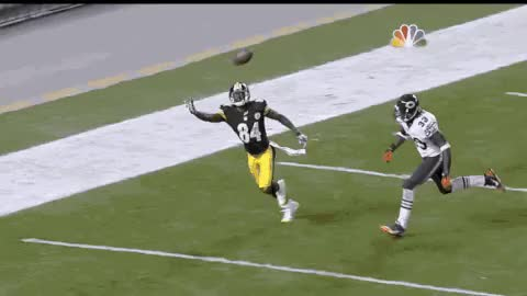Watch and share GIF: Antonio Brown's Sick One-handed Touchdown Catch GIFs on Gfycat