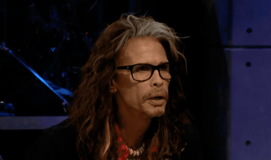 aw, awww, corden, cute, fill, guts, happy, james, late, late late, show, smile, smiling, spill, steven, sweet, tyler, your, Steven Tyler is Happy GIFs