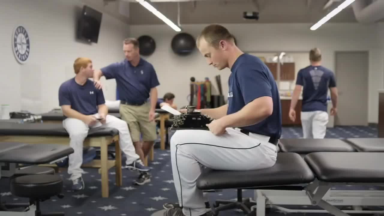 major league baseball, marinersgifs, seattle mariners, 2014 Mariners Commercial: Old School Kyle GIFs
