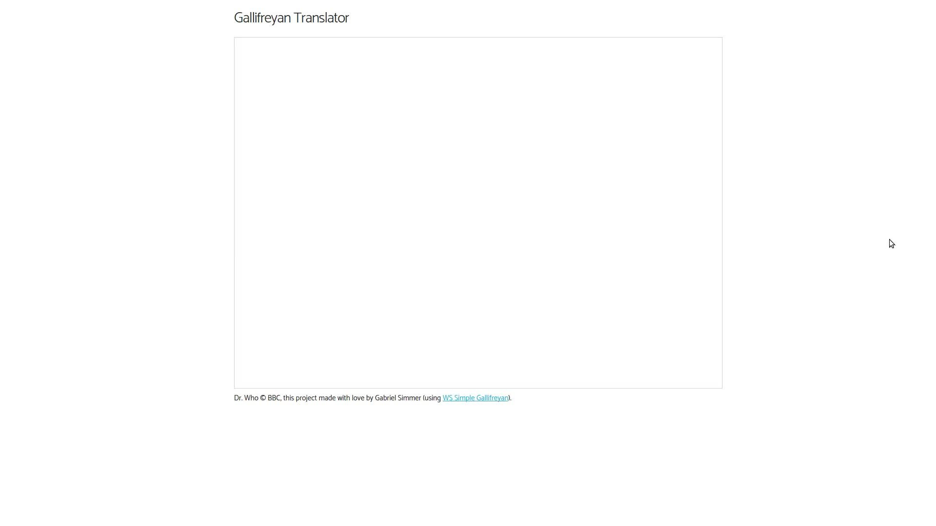 gallifreyan translator