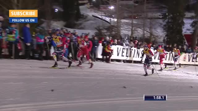 Watch Highlights | Bolshunov edges Klaebo in dramatic fashion | Ruka | Men's Sprint | FIS Cross Country GIF on Gfycat. Discover more Cross Country, FIS Cross Country, Sports GIFs on Gfycat